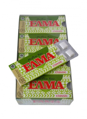 ELMA classique. Le chewing-gum avec du sucre