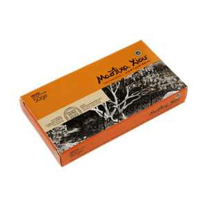 Natural Chios mastic. Box 50g Medium size pieces