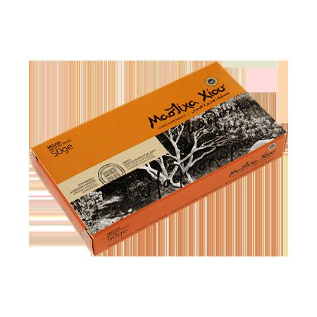 Φυσική μαστίχα Χίου. Κουτί 50g μεσαία δάκρυα