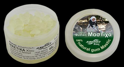 Natural chios gum mastiha. Packing in jars by ANEMOS 65g