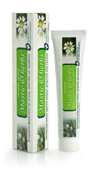 Οδοντόκρεμα Μastic & herbs με μαστίχα και χαμομήλι