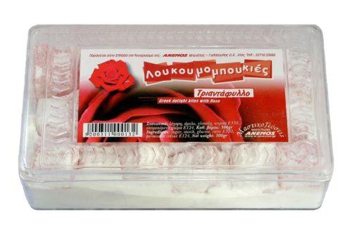 Λουκούμια Χίου Τριαντάφυλλο ε πλαστ. κουτί 300g