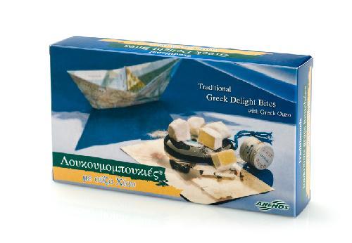 Lokume mit Ouzo aus Chios Papierschachtel 200g