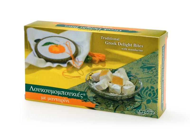 Lokume mit Mandarine aus Chios Papierschachtel 200g