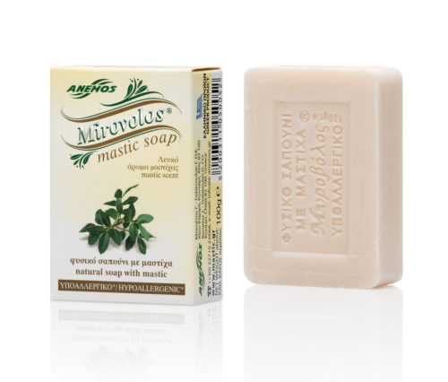 White Mirovolos Soap With Mastic