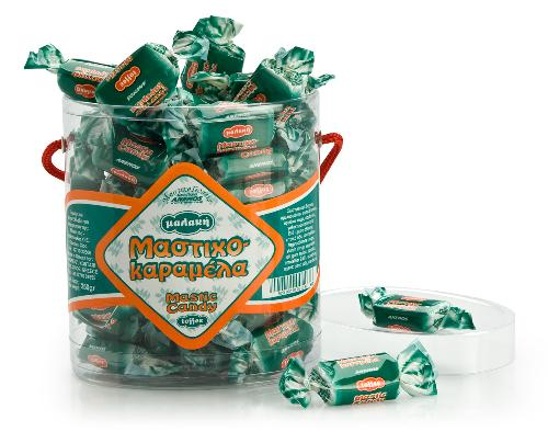 Mastic candy toffee. Oval Box 250g