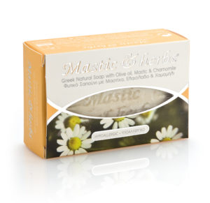 Mastic & herbs soap with chamomile and olive oil