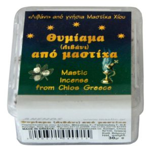 Mastic incense in a plastic box 30g