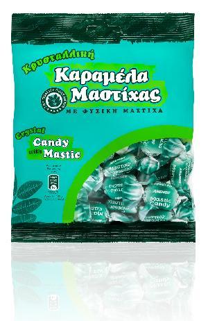 Καραμέλες κρυσταλλικές με Μαστίχα Χίου. Σακουλάκι 230g
