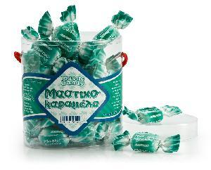 Καραμέλες κρυσταλλικές με Μαστίχα Χίου. Ζελατ. οβάλ κουτί 250g