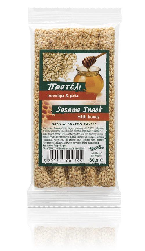 """Handgemachter Sesamsnack """"Pasteli"""" mit Honig 60g"""