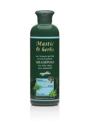 Antischuppen Shampoo Mastic & herbs für fettiges Haar 300ml