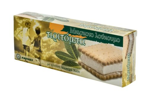 Tiritoba mastiha delight with biscuit