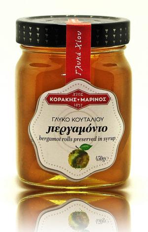 Περγαμόντο ρολέ γλυκό κουταλιού Χίου γυάλ. βάζο 450g