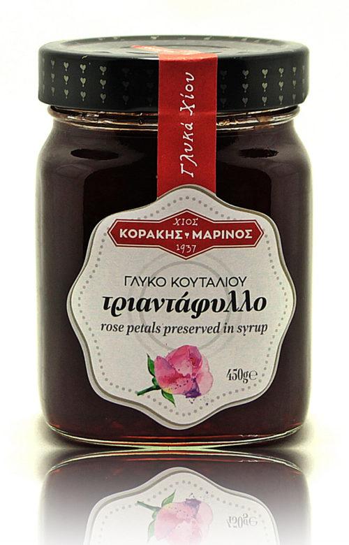 Τριαντάφυλλο (ροδοζάχαρη) γλυκό κουταλιού Χίου γυάλ. βάζο 450g