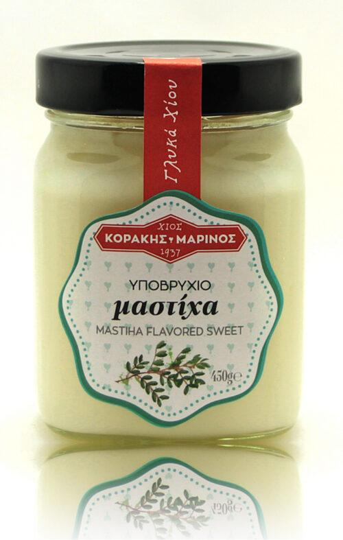 Υποβρύχιο μαστίχα γλυκό κουταλιού Χίου σε Γυάλινο βάζο (μαστιχοβανίλια)