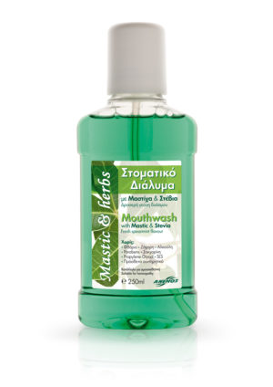 Mouthwash with mastic, stevia & spearmint 250ml