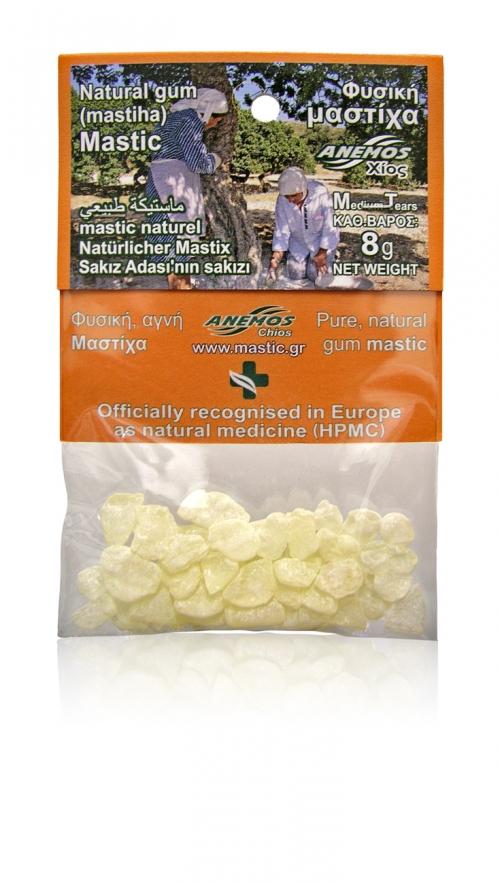 Natural gum mastic. Blister Bag 8g (Medium Tears - Size No3)
