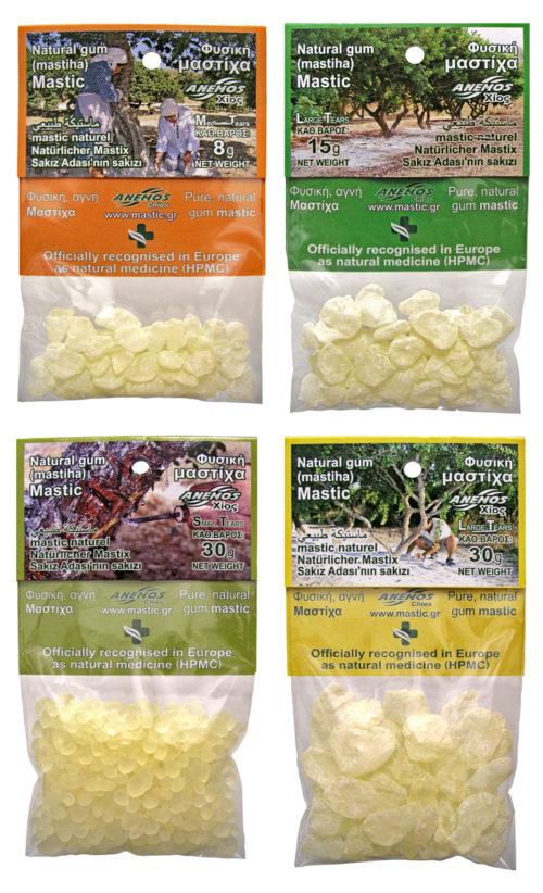 Natural gum mastic / mastiha in blister small packs