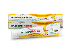 Dentifrice pour enfants Mastic kids au mastic et à la banane.