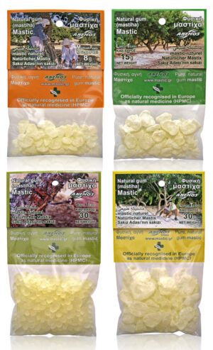 Natural gum mastic / mastiha in blister small packs