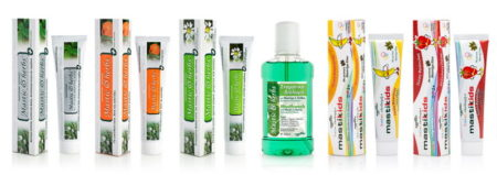 Toothpastes & mouthwash with Mastic
