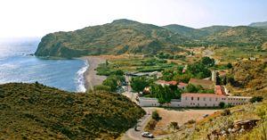 Μοναστήρι - προσκύνημα Αγίας Μαρκέλλας στην Δυτική πλευρά της Βόρειας Χίου
