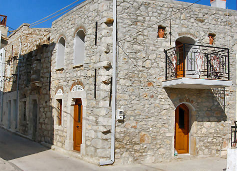 Stone built house in Armolia, Chios