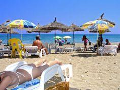 παραλία Κώμη στην Νοτιοανατολική Χίο