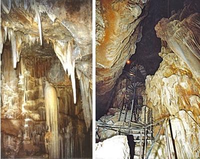 Σπήλαιο με σταλακτίτες και σταλαγμίτες στην Νότια Χίο