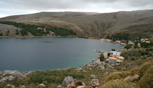 Pantoukios.Village in a natural bay in North Chios on the East coast