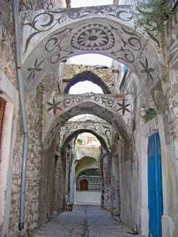Arches in Pyrgi, Chios