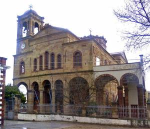 Agios efstratios in Thymiana, Chios built from local stone