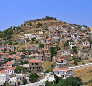 Volissos Village in North Chios