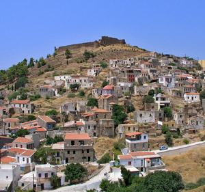 Volissos Village in North Chios