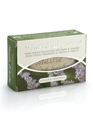 Mastic & herbs soap with Alive oil with Lavender