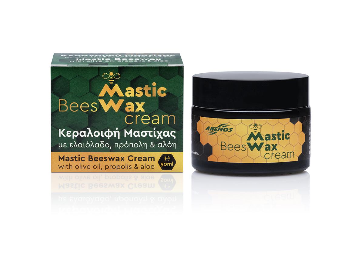 Mastic bees wax with bio olive oil. Jar 50ml