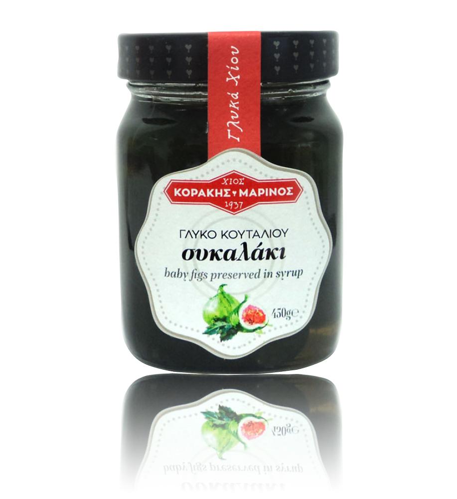 Συκαλάκι γλυκό κουταλιού Χίου γυαλ. βάζο 450g